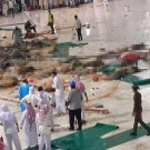 Crane collapses into the grand Mosque in Mecca. Many casualties. 11/09/2015 source: Twitter